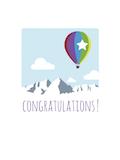Custom front balloon congrats medium