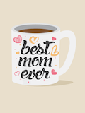 Custom front best mom mug medium