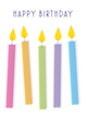 Custom front birthday candles small