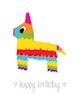 Custom front birthday pinata small