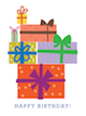 Custom front birthday presents small