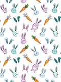 Custom front bunnies and carrots medium