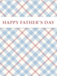 Custom front fathers day plaid small