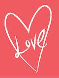 Custom front love big heart medium