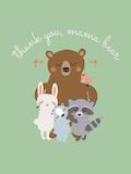 Custom front mama bear medium